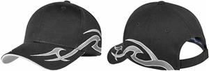 Port Authority Racing Cap with Sickle Flames