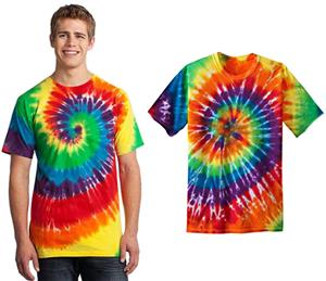 Port & Company Essential Rainbow Tie-Dye Tee