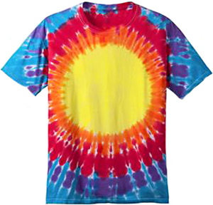 Port & Company Essential Window Rainbow TieDye Tee