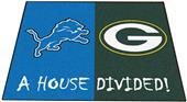 Fan Mats Lions / Packers House Divided Mat