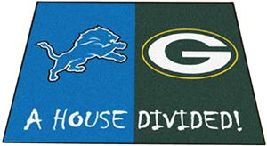 Fan Mats Lions / Packers House Divided Mat