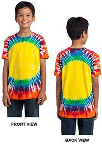 Port & Company Youth Window Rainbow Tie-Dye Tee