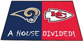 Fan Mats Rams / Chiefs House Divided Mat
