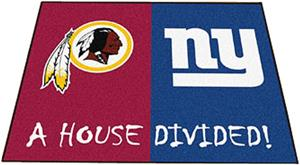 Fan Mats Redskins / Giants House Divided Mat
