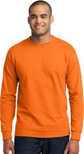 Port & Company LS 50/50 Safety Cotton/Poly T-Shirt