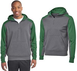 Sport-Tek Colorblock Fleece 1/4-Zip Sweatshirt