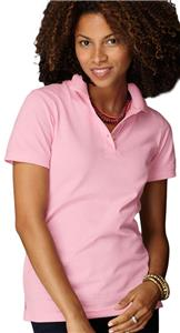 Anvil Pink Women's Ring Spun Pique Knit Polos