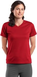 Sport-Tek Dri-Mesh Ladies' V-Neck T-Shirt