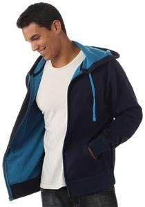 Independent Trading Men's Two-Color Zip Hoodies