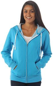 Independent Trading Junior's Two-Color Zip Hoodies