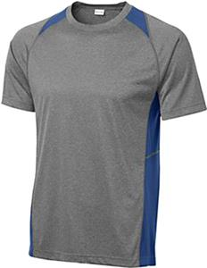 Sport-Tek Adult Heather Colorblock Contender Tee