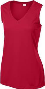 Sport-Tek Ladies' Sleeveless Competitor V-Neck Tee