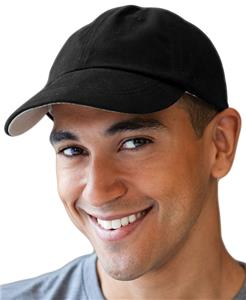 Anvil Solid Low-Profile Brushed Twill 6-Panel Caps
