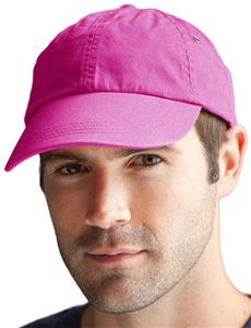 Anvil Pink Solid Low-Profile Twill 6-Panel Caps