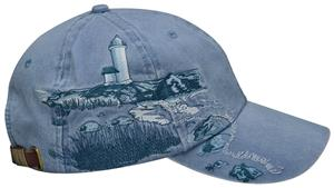 Adams Lighthouse Coast Embroidered Caps