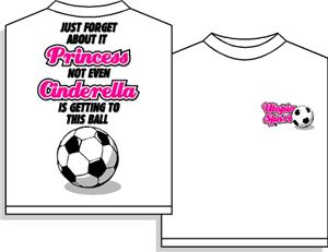 Utopia Cinderella Soccer Short Sleeve T-shirt