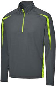 Sport-Tek Wick Stretch 1/2-Zip Colorblock Pullover