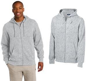 Sport-Tek Mens Full-Zip Hooded Sweatshirt