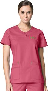 WonderWink Patience Curved Notch Neck Scrub Top
