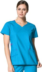 WonderWink Charity Fashion Y-Neck Scrub Top