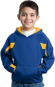 Sport-Tek Youth Color-Spliced Pullover Sweatshirt