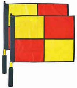 Alum Pole Swivel Soccer Linesmans Flags (set of 2)