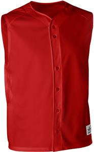 Alleson Warp Knit Full Button Baseball Vests