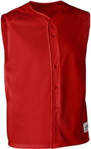 Alleson Warp Knit Full Button Baseball Vests
