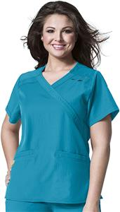 WonderWink Plus Mock Wrap Scrub Top