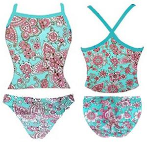 Adoretex Womens Cashu Tankini Set Swimsuit