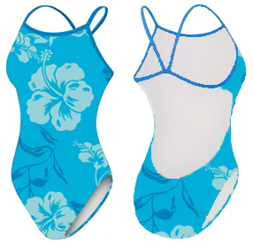 Adoretex Womens Hawaiian Flower One Piece Swimsuit
