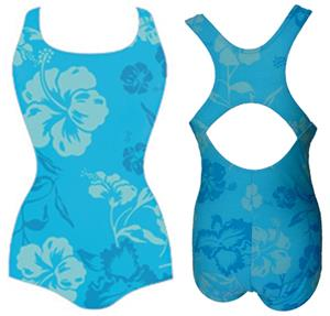 Adoretex Hawaiian Flower Conservative Swim Suit