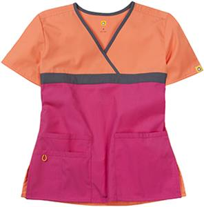 WonderWink Tri-Charlie Mock Wrap Scrub Top