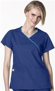 WonderWink Mock Wrap Lady Fit Hotel Scrub Top