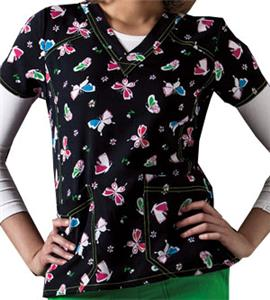 WonderWink Sporty V-Neck WonderWings Scrub Top