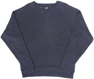 J America Tri-Blend Fleece Crew Sweatshirt