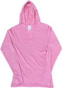 J America Ladies TWISTED Long Sleeve Jersey Hood