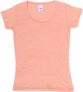 J America Ladies TWISTED Slub Scoopneck Tee