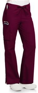 Landau Women's Natural Flare Cargo Scrub Pants
