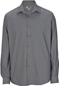 Edwards mens no iron pinpoint collar dress shirt for Mens no iron dress shirts