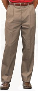 Edwards Mens Utility Chino Pleated Pants