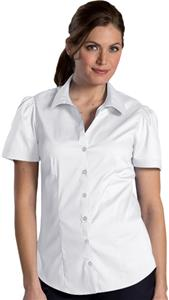 Edwards Womens Open Neck Stretch Blouse