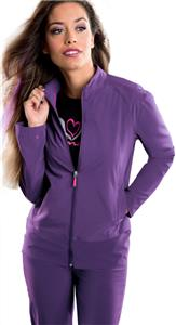 Smitten Women's Biker Chic Warm-Up Scrub Jacket