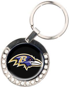NFL Baltimore Ravens Rhinestone Key Chain