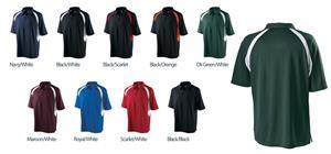 Holloway Mens Circuit Zip Neck Polo Shirt