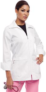 Urbane Women's Zipper Front Lab Coat