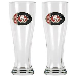 NFL San Francisco 49ers 2 Pc Classic Pilsner Glass