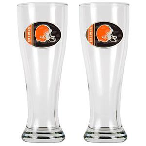 NFL Cleveland Browns 2 Pc Classic Pilsner Glasses