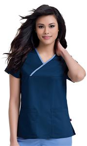 "Urbane Women's ""Mandi"" Crossover Scrub Top"