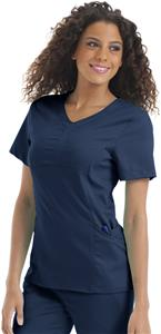 "Urbane Women's ""Brianna"" Y-Placket Scrub Top"